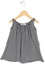 Moschino Girls' Striped Crew Neck Dress