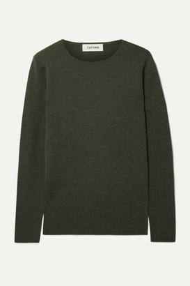 Cefinn Freda Melange Wool Sweater - Army green