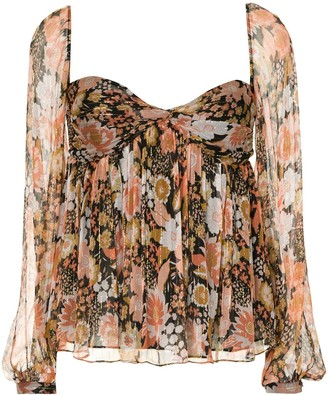We Are Kindred Celestia floral-print bustier top