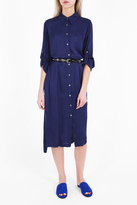 Raquel Allegra Liquid Satin Shirt Dress