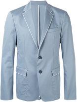 Wooyoungmi piped trim blazer - men - Cotton/Polyester/Spandex/Elastane/Rayon - 48