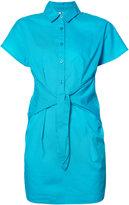 Moschino tie front shirt dress - women - Cotton - S