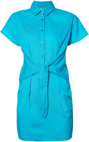 Moschino tie front shirt dress - women - Cotton - XS