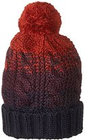 Rampage Women's Chunky Color Block Pom Beanie