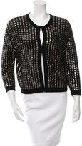 L'Agence Embellished Merino Wool Cardigan