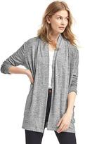 Gap Softspun marled open-front cardigan