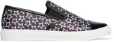 Mother of Pearl Gatson patent leather-trimmed printed satin slip-on sneakers