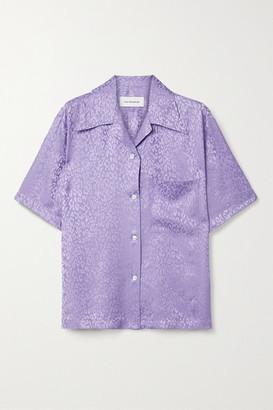 Les Rêveries Silk-satin Jacquard Shirt - Lavender
