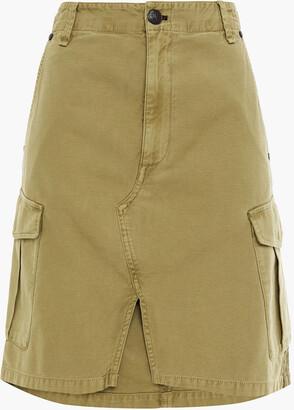 Rag & Bone Striped Cotton-canvas Skirt