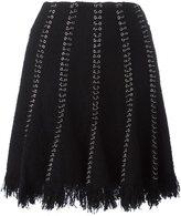 Alexander Wang ring pierced skirt - women - Cotton/Nylon/Polyester/Virgin Wool - 0