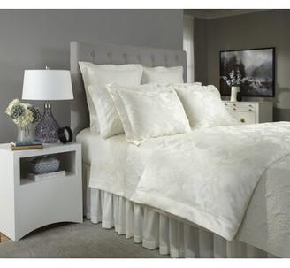 Home Treasures Linens Darian Italian Jacquard Sham Size: Standard, Color: White