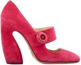 Prada Pink Suede Heels