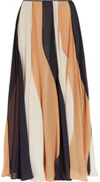 Roksanda Zaha striped silk-seersucker midi skirt