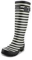 Joules V_wellyprint Women Round Toe Synthetic Black Rain Boot.