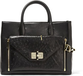 Diane von Furstenberg Secret Agent large convertible leather tote