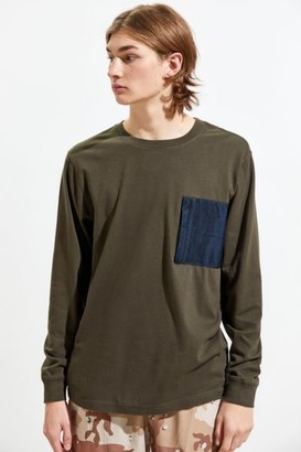 Urban Outfitters Mesh Pocket Long Sleeve Tee