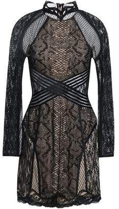 Alexander Wang Cutout Paneled Lace Mini Dress