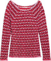 Maje Marcel jacquard-knit sweater