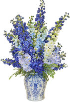 The French Bee 43 Delphinium Orchids in Vase, Faux