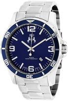 Jivago Mens Silver Tone Bracelet Watch-Jv6116