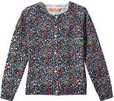 Joe Fresh Toddler Girls' Floral Cardi, JF Midnight Blue (Size 5)