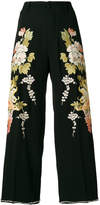 Gucci embroidered cropped trousers