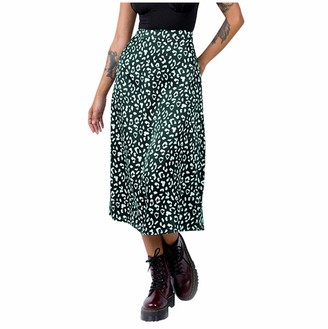 erthome1 Womens Casual High Waist Button Down A Line Mini Skirt Fashion Leopard Print Zipper High Waist Casual Satin Mid Calf Skirt Denim Short Skirt Black Dress