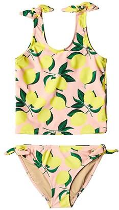 Shade Critters Tankini Tie Side with Lemons (Toddler/Little Kids/Big Kids) (Pink) Girl's Swimwear Sets