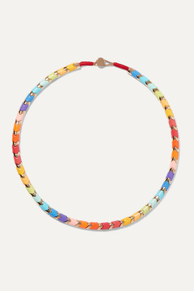 Roxanne Assoulin Golden Rainbow Gold-tone And Enamel Necklace - one size