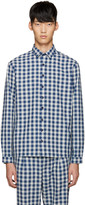 Sunnei Blue Check Classic Shirt