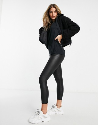 I SAW IT FIRST coated legging in black
