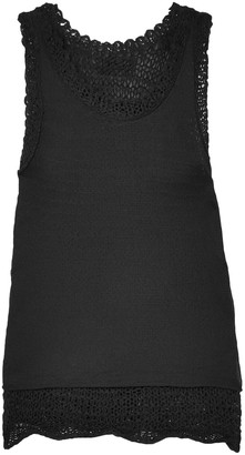 RtA Federica Layered Open-knit And Mesh Tank