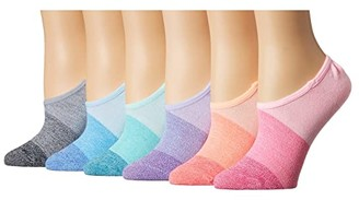 Sof Sole Sunset Marl Footie 6-Pack (Assorted) Women's Crew Cut Socks Shoes