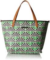 Petunia Pickle Bottom Downtown Tote, Playful Palm Springs, Green by
