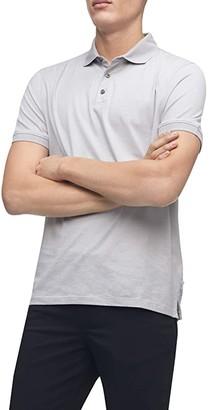 Calvin Klein Short Sleeve Liquid Touch Dobby Polo Shirt (Light Pavement Combo) Men's Clothing