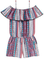 Epic Threads Multi-Print Off-The-Shoulder Romper, Big Girls (7-16), Created for Macy's