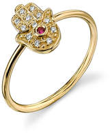 Sydney Evan Hamsa Ring - Yellow Gold