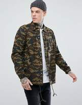 Penfield Blackstone Ripstop Over Shirt Regular Fit in Camo Print