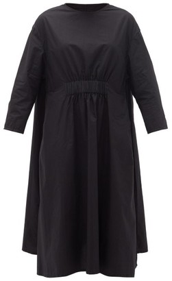 Toogood The Florist Cotton-poplin Midi Dress - Black