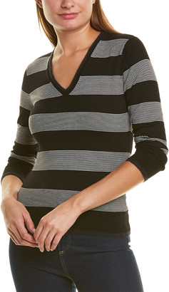 Piazza Sempione V-Neck Wool-Blend Sweater