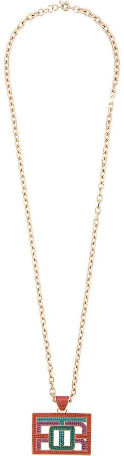 Etro embellished pendant necklace