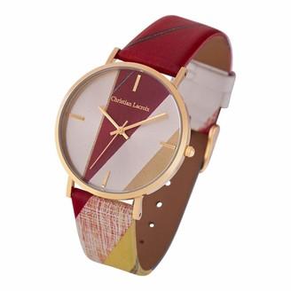 Christian Lacroix Womens Quartz Watch with Leather Strap CLFS1804