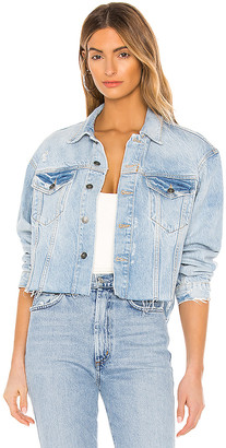 Free People Amelia Slouchy Trucker Jacket. - size L (also