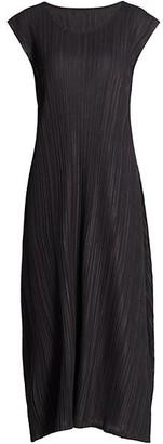Pleats Please Issey Miyake Mellow Pleats Sleeveless Midi Dress