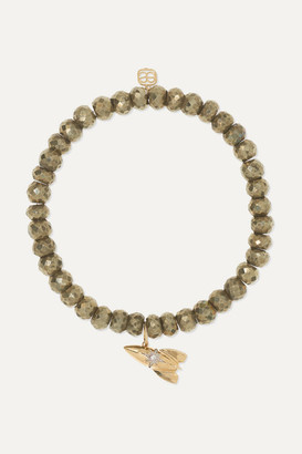 Sydney Evan Rocket 14-karat Gold, Pyrite And Diamond Bracelet - one size