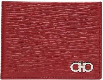 Salvatore Ferragamo Revival Double Gancio Bicolor Leather Wallet