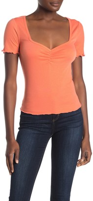 Abound Ruched Short Sleeve Top