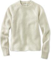 L.L. Bean Signature Heathered Mixed-Stitch Sweater, Crew