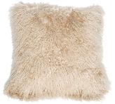 Le-Coterie Tibetan Lamb 24x24 Pillow, Beige