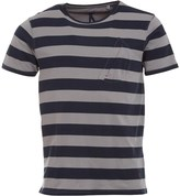 Ringspun Mens Cruz T-Shirt Grey/Navy